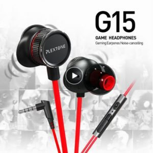 PLEXTONE G15 PC Gaming Headset with Microphone In-Ear Bass Noise Cancelling Earphone