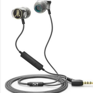 QKZ DM7 3.5mm Aluminum Alloy in Ear Wired Earphone - Black