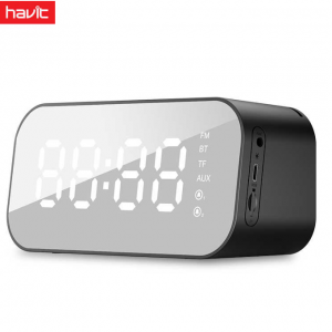 HAVIT Portable Bluetooth Speaker Alarm Clock Wireless LED