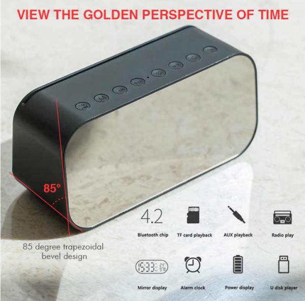 HAVIT Portable Bluetooth Speaker Alarm Clock Wireless LED