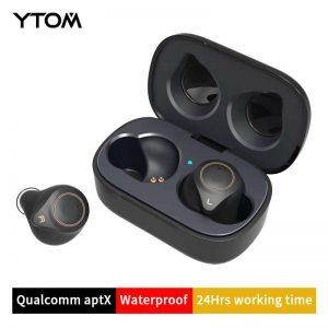 YTOM T1 Support AptX ACC TWS True Wireless Bluetooth 5.0 Earphone